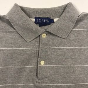 J. CREW Mens Small Gray Golf Polo Shirt